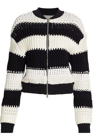 3.1 Phillip Lim Women's Bold Striped Knit Jacket - - Size Large