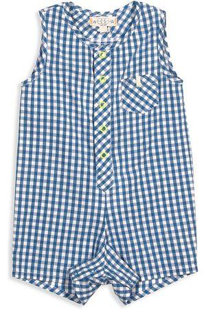 Egg New York Accessories - Baby Boy's Tanner Gingham Sleeveless Shortalls - Plaid - Size 24 Months