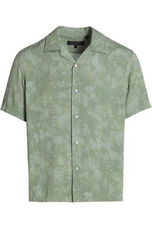 RAG&BONE Men Denim - Men's Avery Camo-Dye Shirt - Camo Dye - Size XL