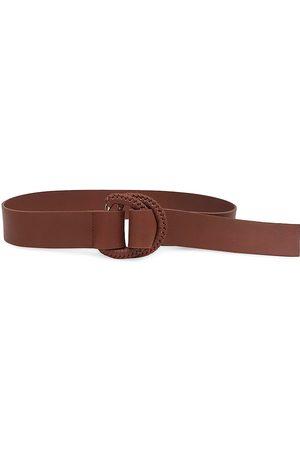 B-Low The Belt Women's Emille Leather Wrap Belt - Brandy - Size Medium