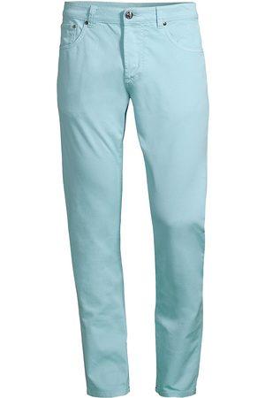 ISAIA Men's Gabardine Five-Pocket Pants - Sky - Size 44