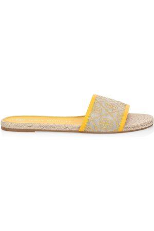 Tory Burch Women's T Monogram Jacquard Espadrille Slides - - Size 7 Sandals