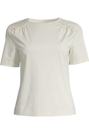 REBECCA TAYLOR Women's Ruffle-Trim T-Shirt - Celery - Size XL