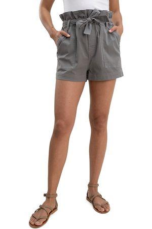 Splendid Women's Ryland Paperbag Shorts - Grey - Size Large