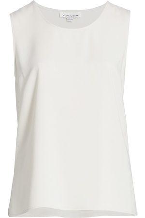 Caroline Rose Women's Basic Crepe Suzette Tank - Ivory - Size XXXL