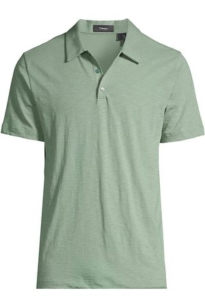 THEORY Men's Cosmo Regular-Fit Polo Shirt - Steel - Size XXL