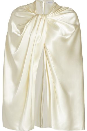 Marina Moscone Women's Twisted Satin Capelet - Ivory - Size Small