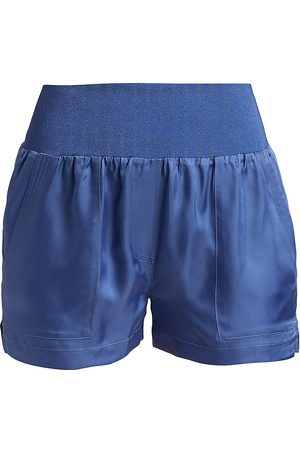 Cinq A Sept Women's Bethany Smocked Shorts - Thunderstorm - Size XL