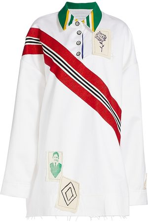 Marina Moscone Women's Solid Rugby Shirt - - Size Large