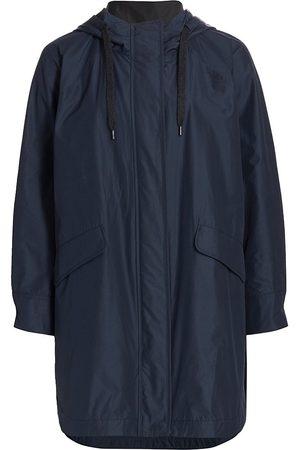 Brunello Cucinelli Women Anoraks - Women's Water Resistant Anorak Jacket - Blu Profondo - Size 12