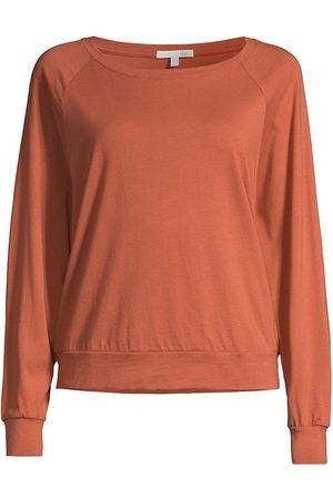 SKIN Women Sweatshirts - Women's Marika Raglan Pullover Sweatshirt - Canyon Clay - Size XS