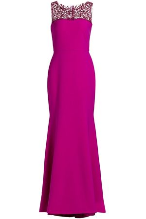 THEIA Women's Eva Embellished Trumpet Dress - Orchid - Size 16