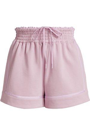 3.1 Phillip Lim Women Sports Shorts - Women's French Terry Boxer Shorts - Lavender - Size XS