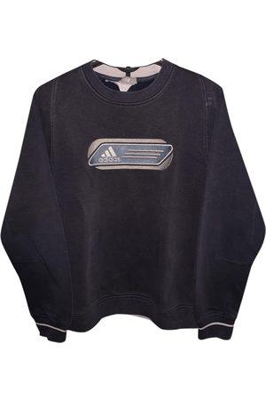 adidas Men Sweatshirts - Anthracite Cotton Knitwear & Sweatshirt