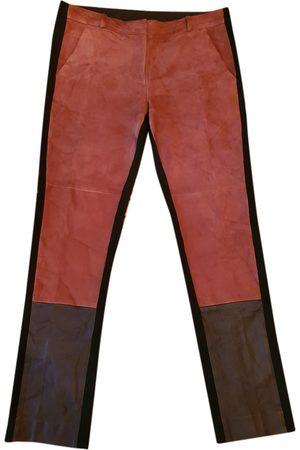 Diane von Furstenberg \N Leather Trousers for Women