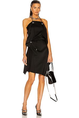 Givenchy Women Asymmetrical Dresses - Asymmetrical Short Draped Dress in