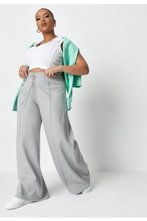Missguided Plus Size Pintuck Super Wide Leg Joggers