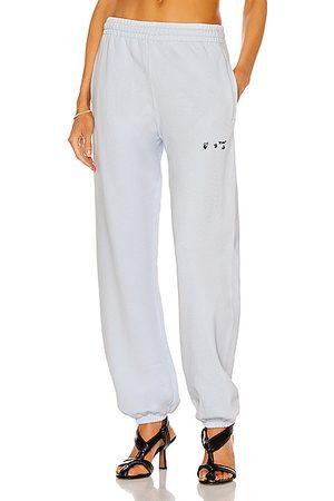 OFF-WHITE Logo Slim Sweatpant in Baby Blue
