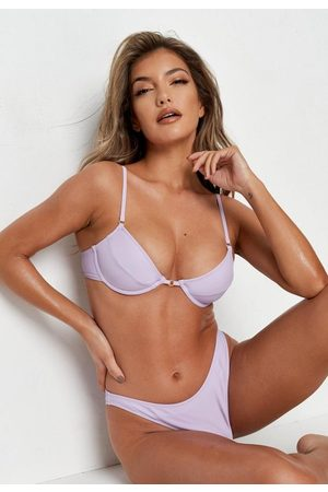 Missguided Lilac Underwire U Bikini Top