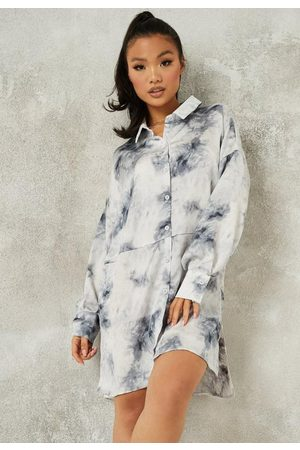 Missguided Tall Tie Dye Dip Back Shirt Dress