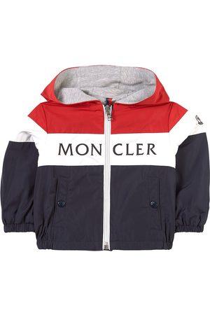 Moncler Sports Jackets - Kids - Navy Colorblock Logo Windbreaker - Unisex - 6-9 months - Navy - Windbreakers