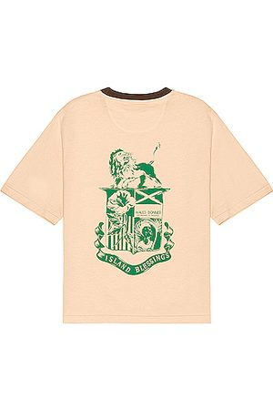 WALES BONNER Johnson Badge Crest Tee in Neutral
