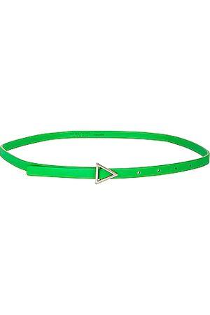 Bottega Veneta Women Belts - Leather Triangle Belt in Green