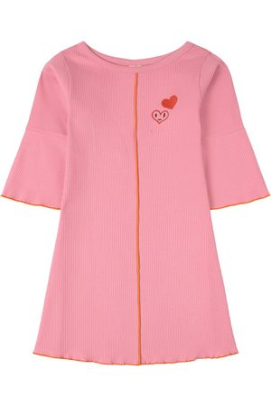 Oii Dress L/S Flare Ribbed Cotton Candy - Girl - 86/92 cm - - Casual dresses