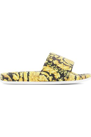 VERSACE Flat Shoes - Kids Sale - Heritage Print Slide Sandals - Unisex - 27-28 (UK 9-10) - - Slip-on sandals