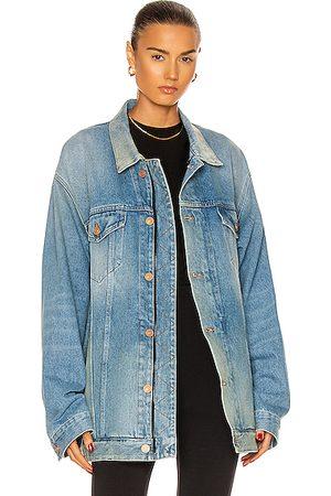 Balenciaga Women Denim Jackets - Zip Up Jacket in Denim-Light