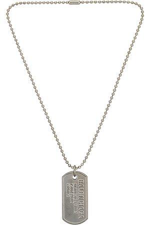 Balenciaga Men Necklaces - Punk Tag Necklace in Metallic