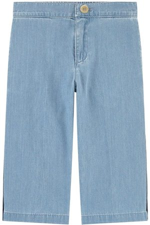 Gucci Girls Wide Leg Pants - Kids - Flare fit pants - Bande Web - Girl - 4 years - - Trousers