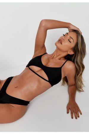 Missguided Plunge Cut Out Bikini Top