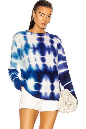 THE ELDER STATESMAN Triptych Medium Rib Relax Crew Sweater in