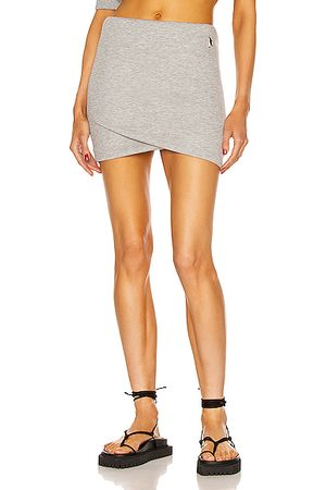 The Attico Women Mini Skirts - Ezra Mini Skirt in Light Grey