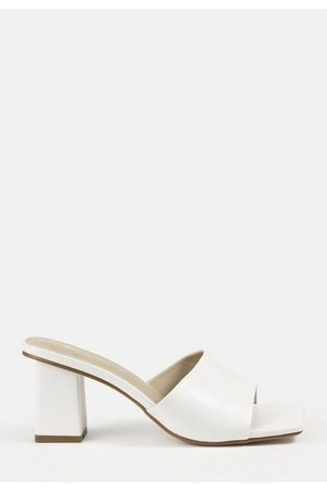 Missguided Square Toe Block Heel Mule Sandals