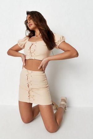 Missguided Women Mini Skirts - Petite Co Ord Waffle Mini Skirt