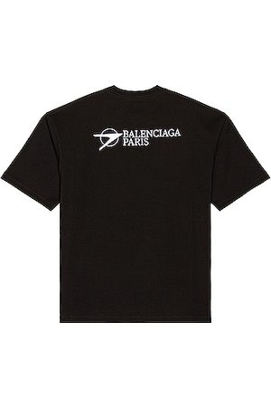 Balenciaga Men T-shirts - Medium Fit Tee in Blue