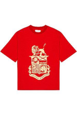 WALES BONNER Men T-shirts - Johnson Crest Tee in
