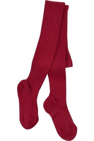 CONDOR Burgundy ribbed knit Baby tights - Unisex - 3-6 Months - - Tights