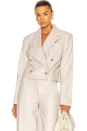 Loulou Studio Women Leather Jackets - Kadmat Leather Blazer in Ivory