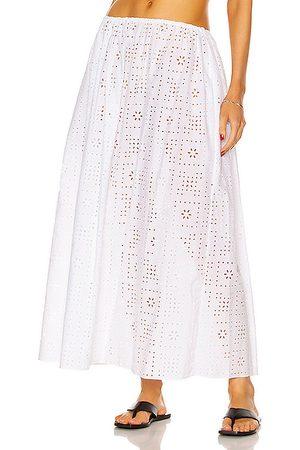 MATTEAU Women Maxi Skirts - Crochet Broderie Skirt in