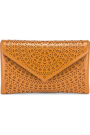 Alaïa Women Clutches - Oum 20 Leather Laser Cut Clutch in Neutral