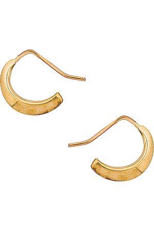 FAY ANDRADA Women Rings - Selka Petite Hoop Earrings in Metallic Gold