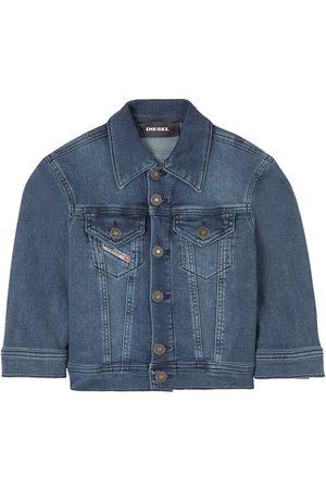 Diesel Boys Puffer Jackets - Kids Sale - Dark Wash Denim Jacket - Boy - 4 years - - Padded and puffer jackets