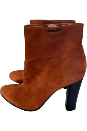 Calvin Klein \N Suede Ankle boots for Women