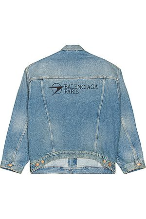 Balenciaga Men Denim Jackets - Large Fit Jacket in