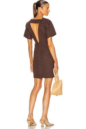 Bottega Veneta Women Party Dresses - Open Back Mini Dress in Brown