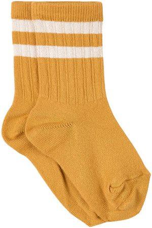 Collegien Socks - Kids - Curcuma Nico Varsity Crew Socks - Unisex - 21-23 (1-2 Years) - - Socks