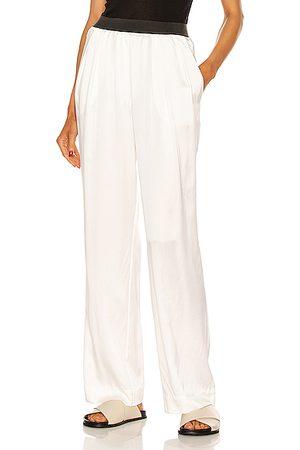 Loulou Studio Women Wide Leg Pants - Pagai Silk Pant in Ivory